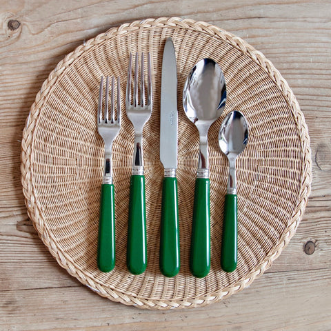 Classic Green Cutlery, 5 Piece Set
