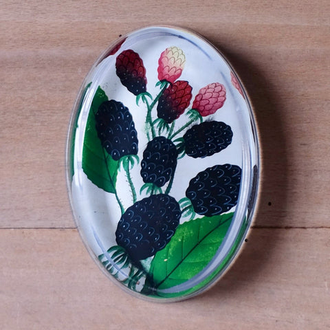 Blackberries, Oval Paperweight