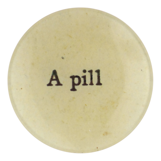 "A Pill, 4"" Round Plate"