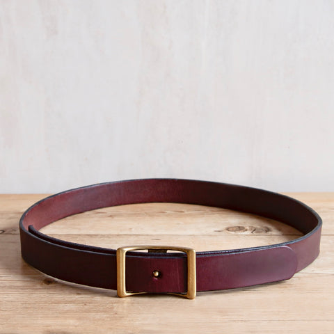 Bridle Leather Belt, Burgundy, 1.25""