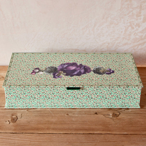 Vilmorin Vegetable Decoupage Box with Hinged Lid