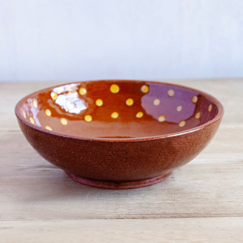 Hand-Painted Terracotta Soup Bowls