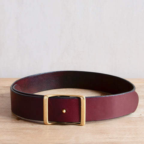 Bridle Leather Belt, Burgundy, 1.75""