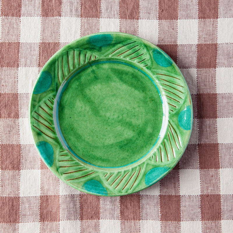 Hand-Painted Terracotta Salad Plates