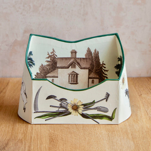 "Baroque Letter Holder, ""Fairgreen Farm with Juice"""