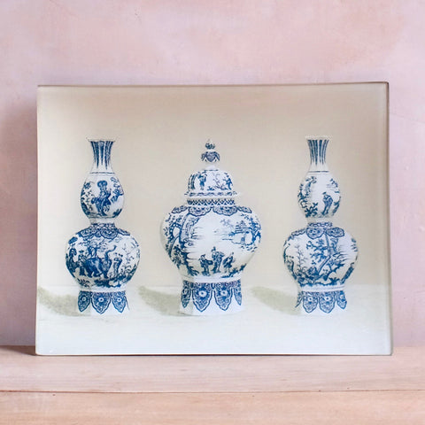 "Delft, 8 x 10.5"" Rectangular Tray"