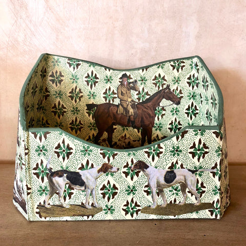 "Baroque Letter Holder, ""Horse and Hound"" (Green Graphic)"