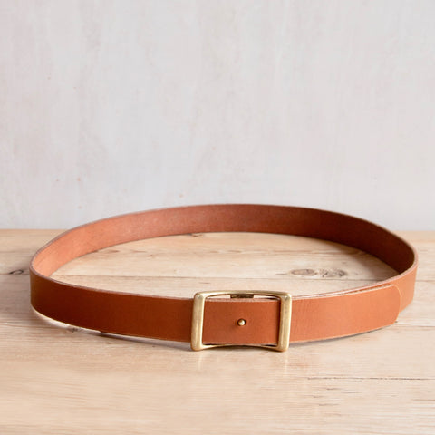 Bridle Leather Belt, Light Brown, 1.25""