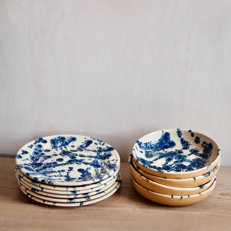 Pair of Hand- Glazed Terracotta Soup Bowls