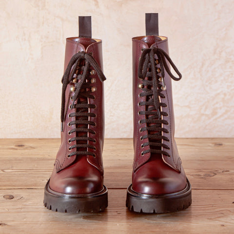 Beverley Boot, Calf Leather (Burgundy)