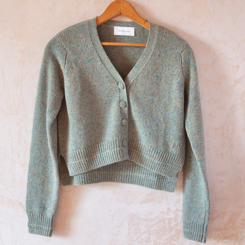 Therese Cropped Cardigan, Green