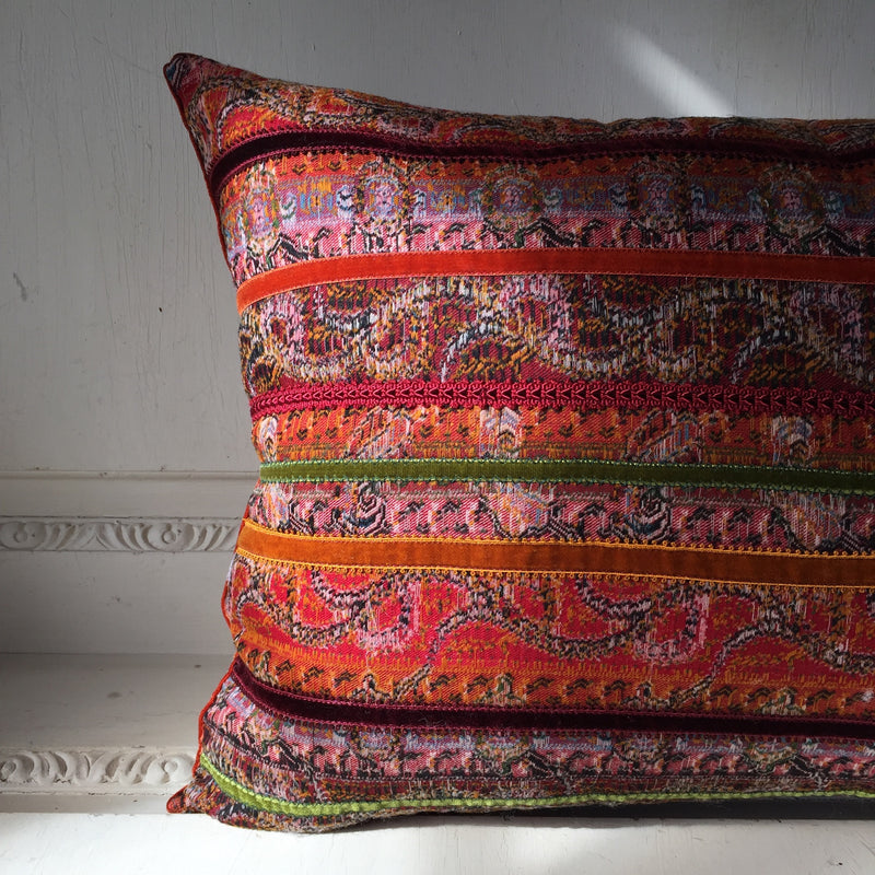 Condé, Antique Paisley Shawl Cushions