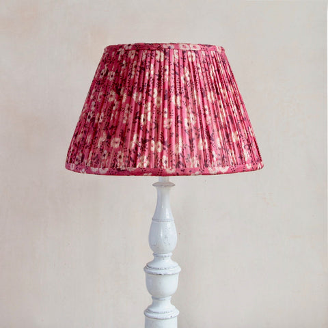 Pink Silk Gathered Lampshade
