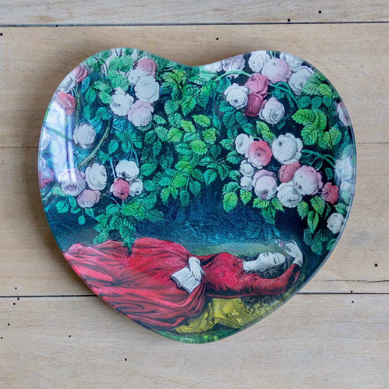 "Sleeping Beauty, 8"" Heart Dish"