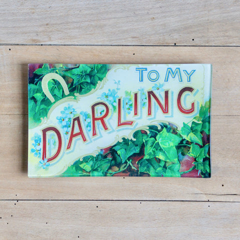 "To My Darling, 5 x 8"" Rect. Tray"