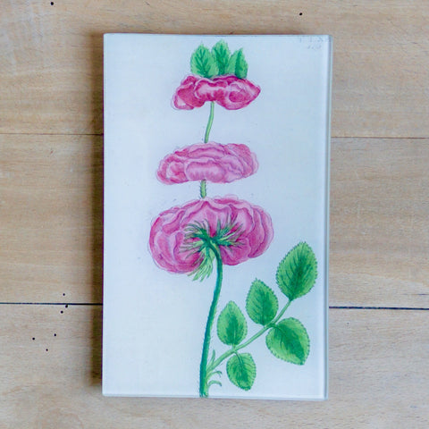 "Triple Rose, 5x8"" Rectangular Tray"