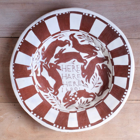 """Here Hare Here"" Large Plate"