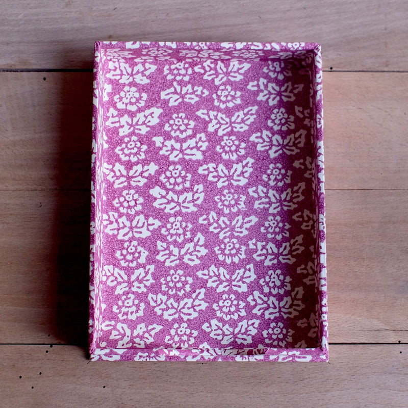 Note Holder, Purple Sponge Flower