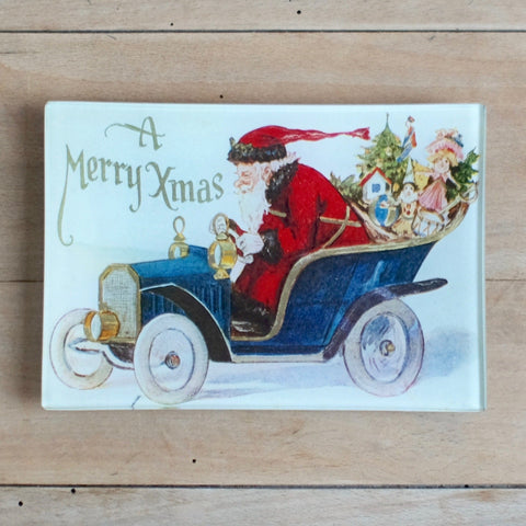 "Speeding Santa, 4.5 x 6.5"" Mini-Tray"