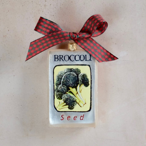 Broccoli Seed Packet Ornament