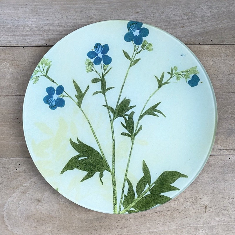 "Jacob's Ladder (no.29) Pressed Leaves, 11"" Round Plate"