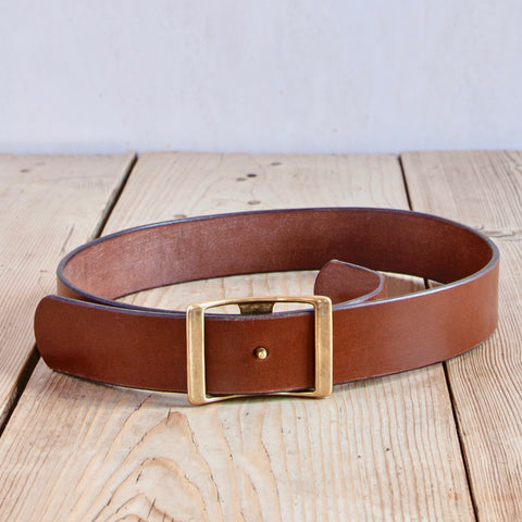 Bridle Leather Belt, Russet, 1.75""