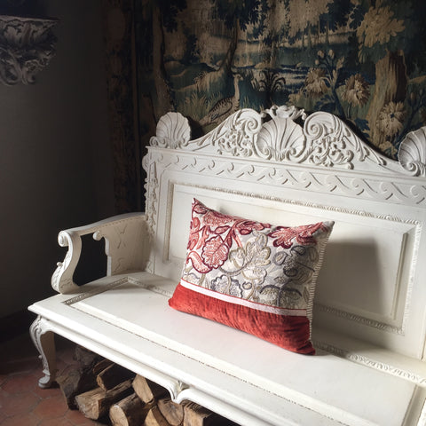 Champfleur, Crewelwork Embroidery Cushion