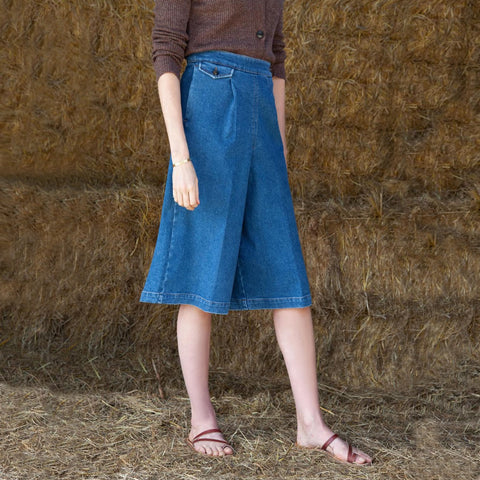 Liverpool Denim Culottes