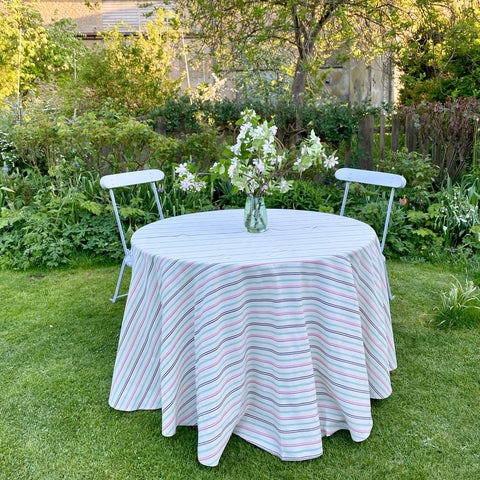 Cotton Tablecloth (Multi Stripe)