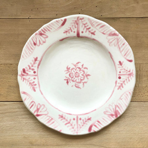 Pair of Hand-Painted Ceramic Dessert Plate