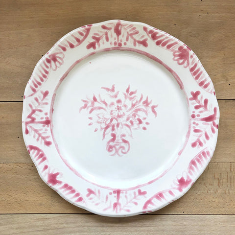 Pair of Hand-Painted Ceramic Dinner Plate