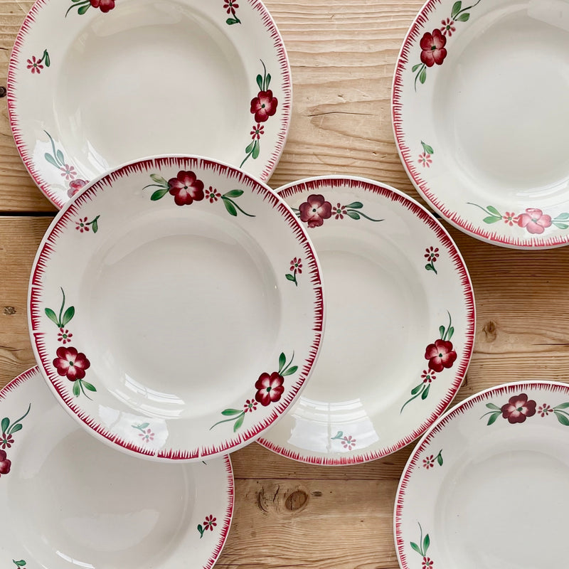 "Set of 6, ""Domino"" Soup Plates"