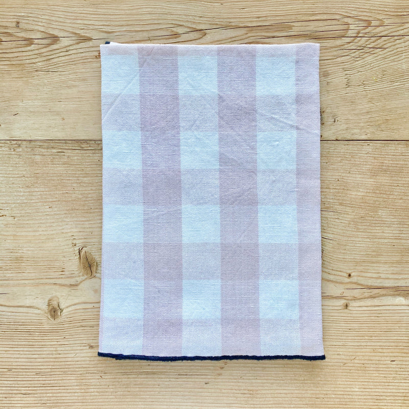 Checkerboard Tablecloth, Linen & Cotton (Blush)