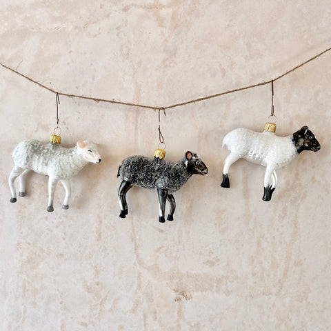 Sheep, Glass Ornaments