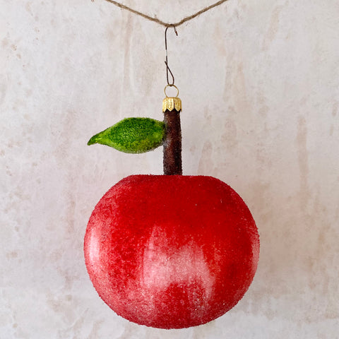 Apple, Glass Ornament
