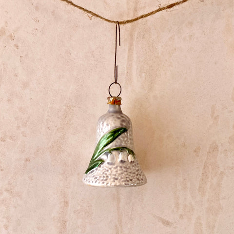 Bell with Lilly of the Valley Ornament