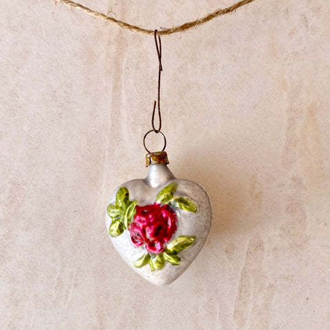 Heart With Rose Ornament