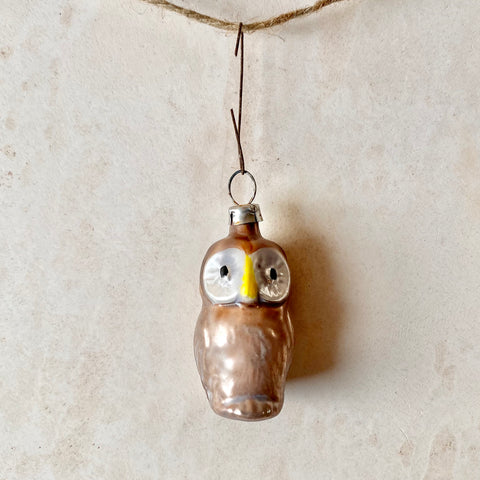 Mini Fat Owl Ornament