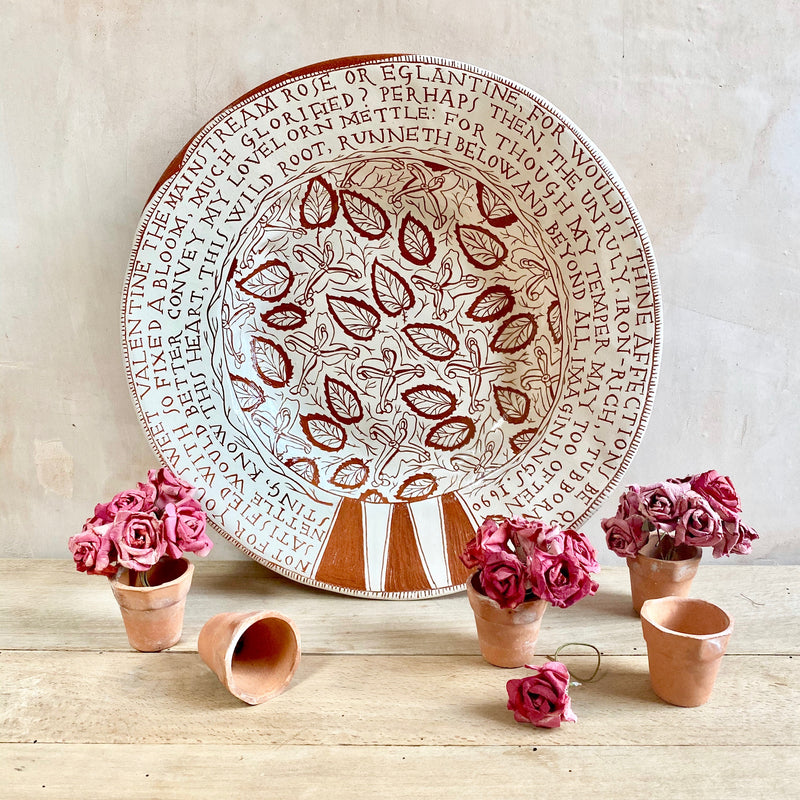 """Mainstream Rose"" Large Plate"
