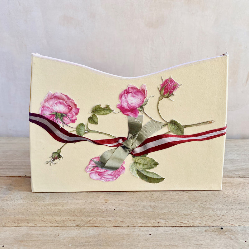 Baroque Letter Holder,  Roses and Ribbons