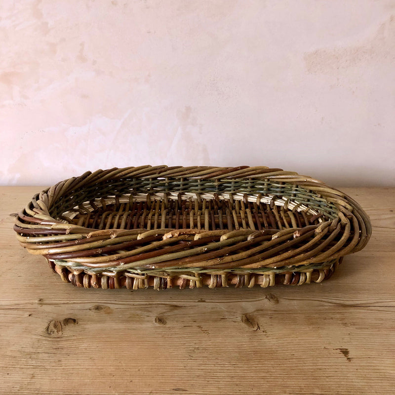 Oval Hand Woven English Willow Tray, Small