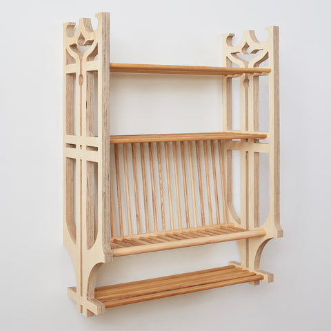 """Arts & Crafts"" Plate Rack"