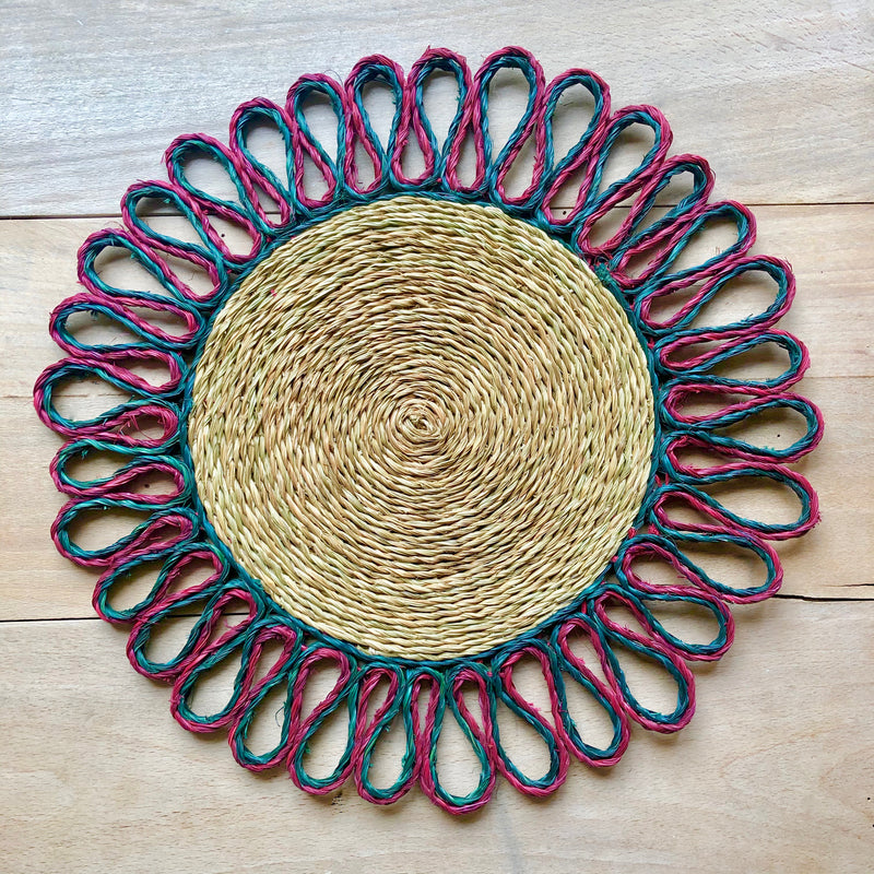 Looped Sisal Placemats (Bordeux & Forest)