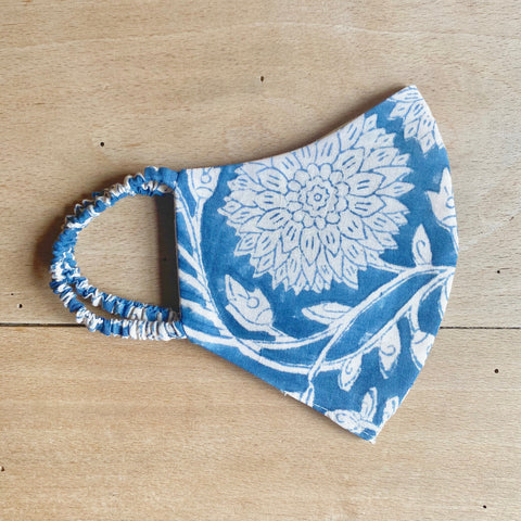 Indian Blockprint Cotton Mask (FOR TEENS)