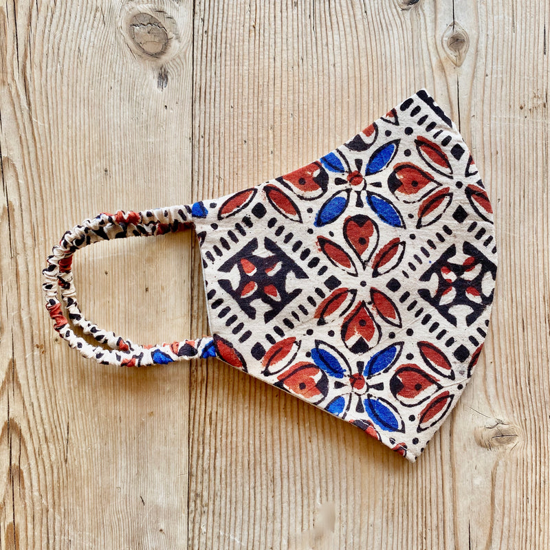 Indian Blockprint Cotton Mask