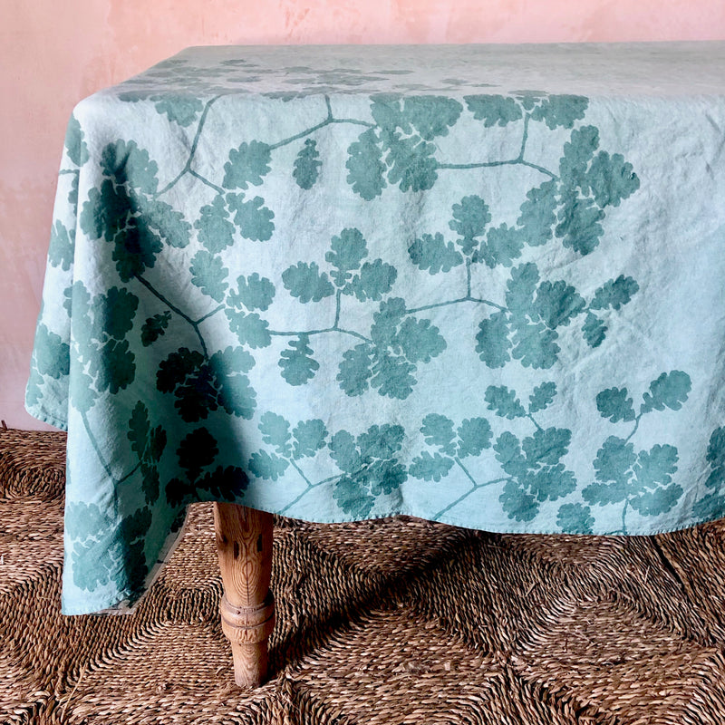 Rovere Linen Tablecloth (Green)