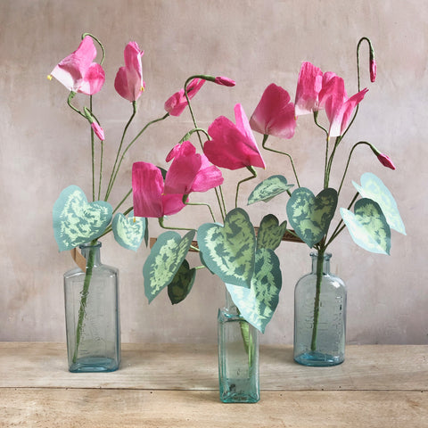 Cyclamen Paper Flower Stems