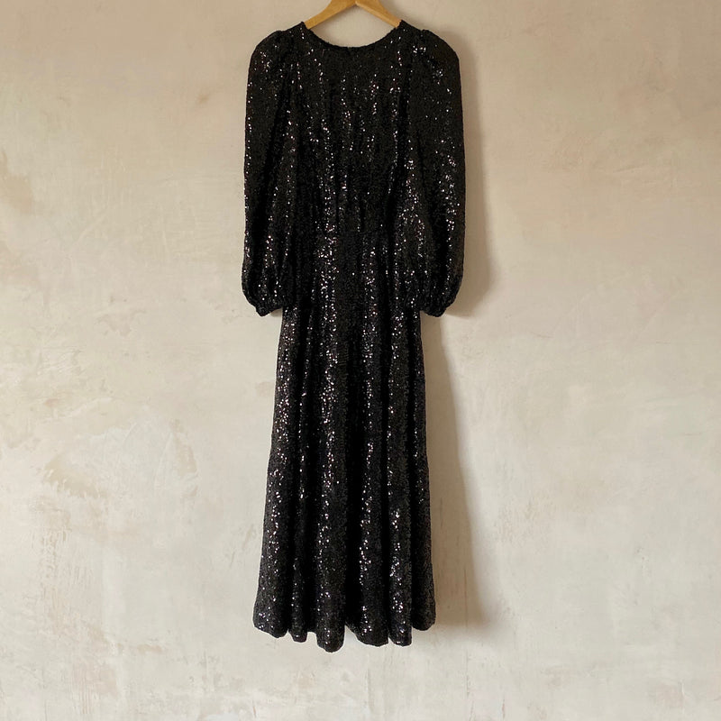 Angelica Sequin Dress (Navy)