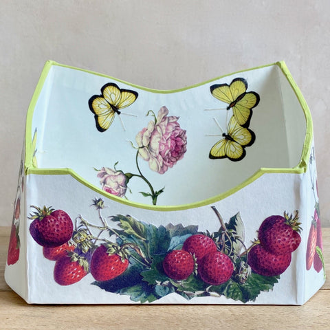 "Baroque Letter Holder, ""Strawberries on Cream"""