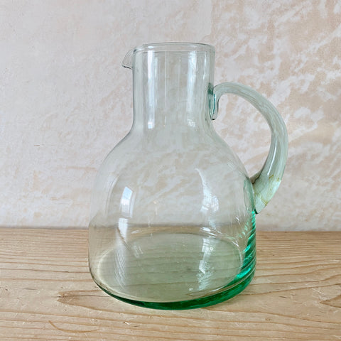 Mouth-Blown Recycled Glass Jug